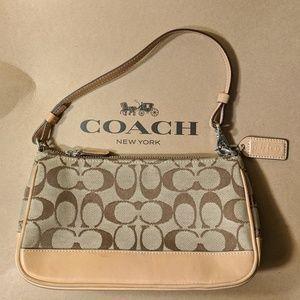 AUTHENTIC Coach KHAKI & BROWN Signature Demi Bag